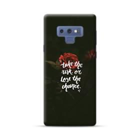 暗黒の中 一凛のバラ Samsung Galaxy Note 9 ポリカーボネート ハードケース