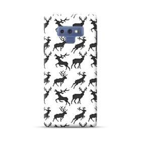 クリスマス デザイン トナカイ パターン Samsung Galaxy Note 9 ポリカーボネート ハードケース