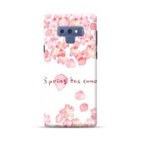 桜&デザイン英文 Samsung Galaxy Note 9 ポリカーボネート ハードケース