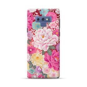 和の花柄:牡丹 Samsung Galaxy Note 9 ポリカーボネート ハードケース
