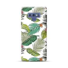 アートなリーフのモチーフ Samsung Galaxy Note 9 ポリカーボネート ハードケース