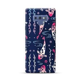 和柄:桜&錦鯉 Samsung Galaxy Note 9 ポリカーボネート ハードケース