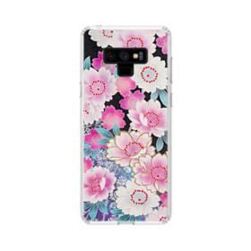 和の花柄 Samsung Galaxy Note 9 TPU クリアケース