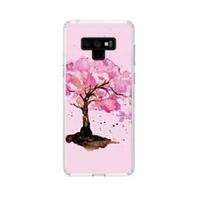 水彩画・桜の木 Samsung Galaxy Note 9 TPU クリアケース