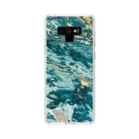 きれいな大理石(エメラルドグリーン・マーブル) Samsung Galaxy Note 9 TPU クリアケース