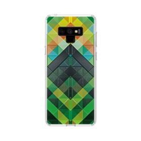 抽象的なモザイクパターン Samsung Galaxy Note 9 TPU クリアケース