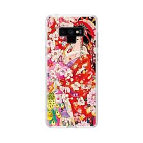 和・花魁&桜 Samsung Galaxy Note 9 TPU クリアケース
