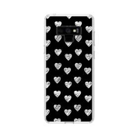 ハートのパターン Samsung Galaxy Note 9 TPU クリアケース