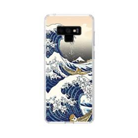 和柄:柴犬in浮世絵 Samsung Galaxy Note 9 TPU クリアケース