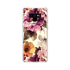墨絵のようなアート・花 Samsung Galaxy Note 9 TPU クリアケース