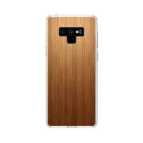 きれい・シンプルな木目:ブラウン Samsung Galaxy Note 9 TPU クリアケース
