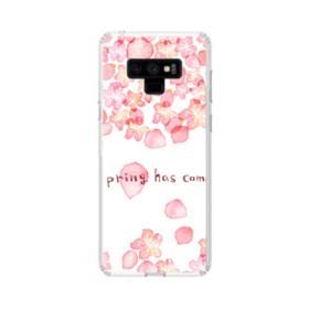 桜&デザイン英文 Samsung Galaxy Note 9 TPU クリアケース