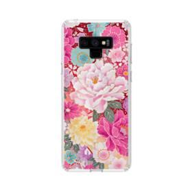和の花柄:牡丹 Samsung Galaxy Note 9 TPU クリアケース
