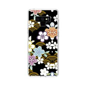 和風・桜&浪 Samsung Galaxy Note 9 TPU クリアケース