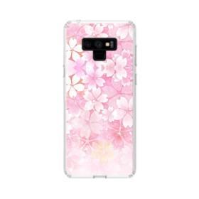 爛漫・ピンク&桜色 Samsung Galaxy Note 9 TPU クリアケース