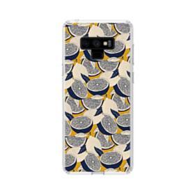 紺&大地色:レモンいっぱい Samsung Galaxy Note 9 TPU クリアケース
