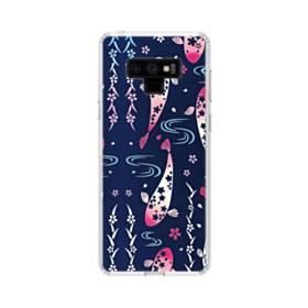 和柄:桜&錦鯉 Samsung Galaxy Note 9 TPU クリアケース