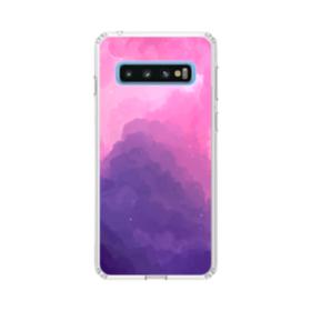 抽象的・ブルーからパプールへのグラデーション Samsung Galaxy S10 TPU クリアケース