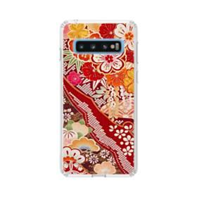 和・花柄 Samsung Galaxy S10 TPU クリアケース