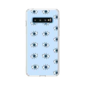 可愛い・目のモチーフ Samsung Galaxy S10 TPU クリアケース
