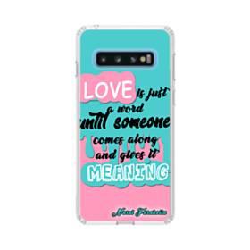 愛の意味 Samsung Galaxy S10 TPU クリアケース