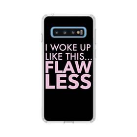 デザイン英文 Samsung Galaxy S10 TPU クリアケース