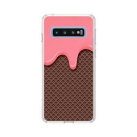 とろけるアイス Samsung Galaxy S10 TPU クリアケース