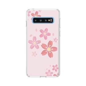 春・桜の花001 Samsung Galaxy S10 TPU クリアケース