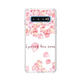 桜&デザイン英文 Samsung Galaxy S10 TPU クリアケース