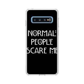 デザイン英文(ファニー) Samsung Galaxy S10 TPU クリアケース