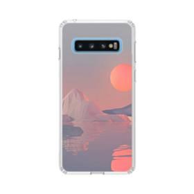 北極海&月 Samsung Galaxy S10 TPU クリアケース
