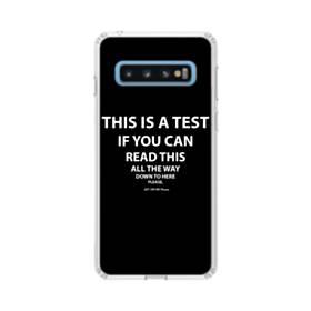 デザイン・英文(ユーモア風) Samsung Galaxy S10 TPU クリアケース