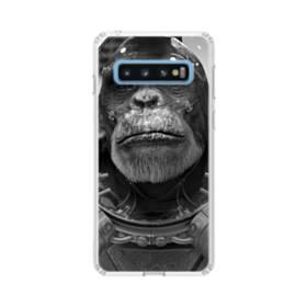 宇宙服を着たサルさん Samsung Galaxy S10 TPU クリアケース