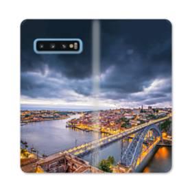 ザ・ブリッジ Samsung Galaxy S10 合皮 手帳型ケース