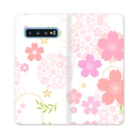 桜の形・いろいろ Samsung Galaxy S10 合皮 手帳型ケース