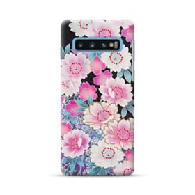 和の花柄 Samsung Galaxy S10 Plus ポリカーボネート ハードケース