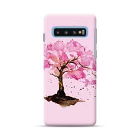 水彩画・桜の木 Samsung Galaxy S10 Plus ポリカーボネート ハードケース