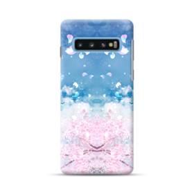 桜の花びら Samsung Galaxy S10 Plus ポリカーボネート ハードケース