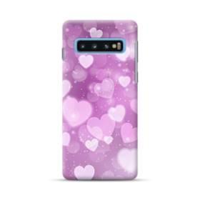 爛漫・ハート柄 Samsung Galaxy S10 Plus ポリカーボネート ハードケース