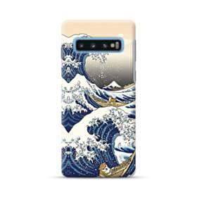 和柄:柴犬in浮世絵 Samsung Galaxy S10 Plus ポリカーボネート ハードケース