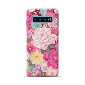 和の花柄:牡丹 Samsung Galaxy S10 Plus ポリカーボネート ハードケース