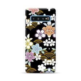 和風・桜&浪 Samsung Galaxy S10 Plus ポリカーボネート ハードケース