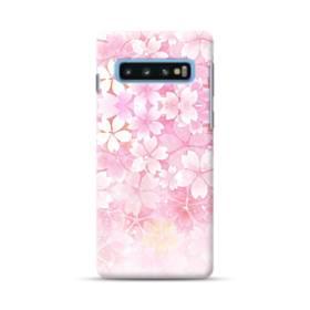 爛漫・ピンク&桜色 Samsung Galaxy S10 Plus ポリカーボネート ハードケース