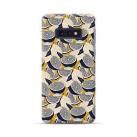 紺&大地色:レモンいっぱい Samsung Galaxy S10e ポリカーボネート ハードケース