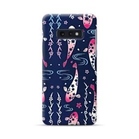 和柄:桜&錦鯉 Samsung Galaxy S10e ポリカーボネート ハードケース