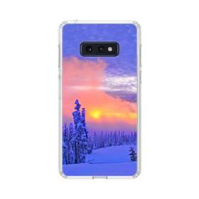 夕暮れの雪山景色 Samsung Galaxy S10e TPU クリアケース