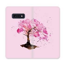 水彩画・桜の木 Samsung Galaxy S10e 合皮 手帳型ケース