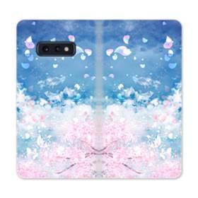 桜の花びら Samsung Galaxy S10e 合皮 手帳型ケース
