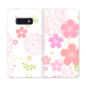 桜の形・いろいろ Samsung Galaxy S10e 合皮 手帳型ケース