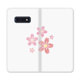 春・桜の花002 Samsung Galaxy S10e 合皮 手帳型ケース